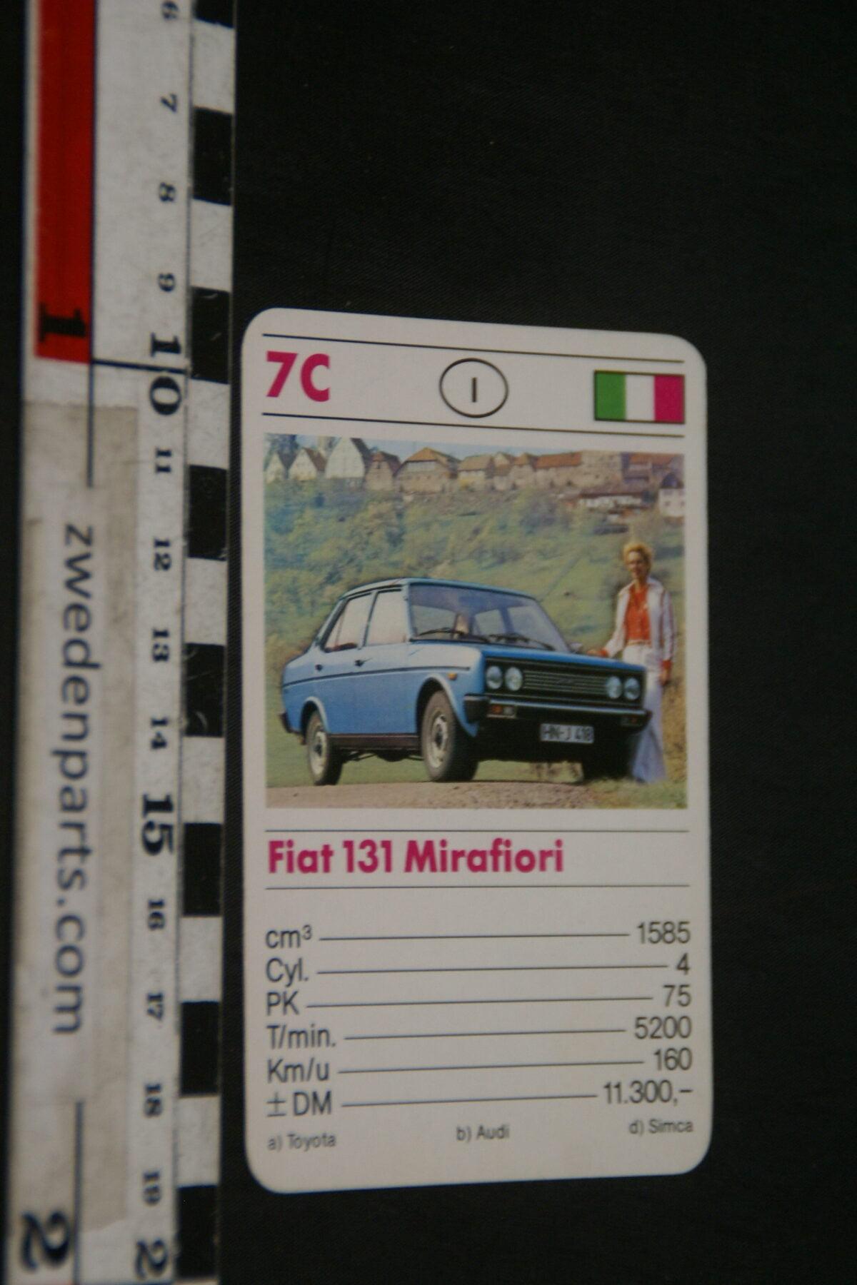 DSC02306 ca. 1975 origineel autokwartetkaart Fiat Mirafiori-ebbd4934