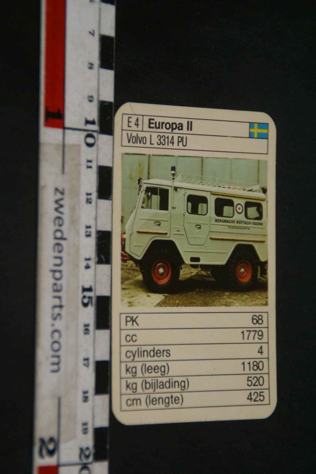DSC02308 ca. 1965 origineel autokwartetkaart Volvo L3314PU Valp Laplander-fb6154c7