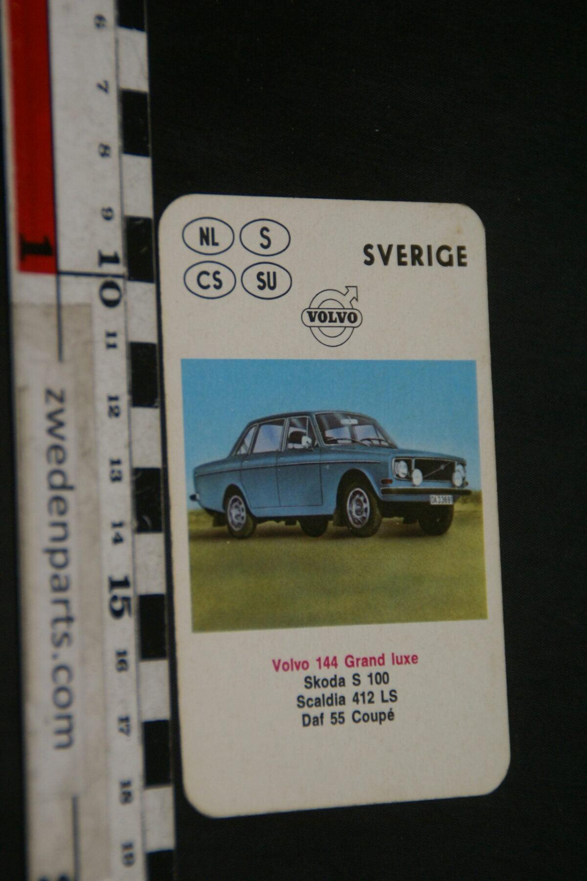 DSC02310 ca. 1970 origineel autokwartetkaart Volvo 144GL-cf78e067