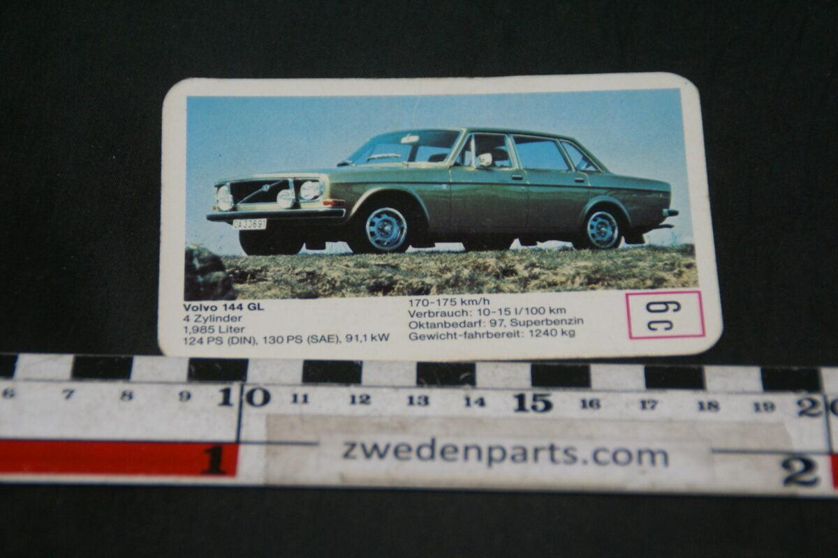 DSC02311 ca. 1971 origineel autokwartetkaart Volvo 144GL-a861951b