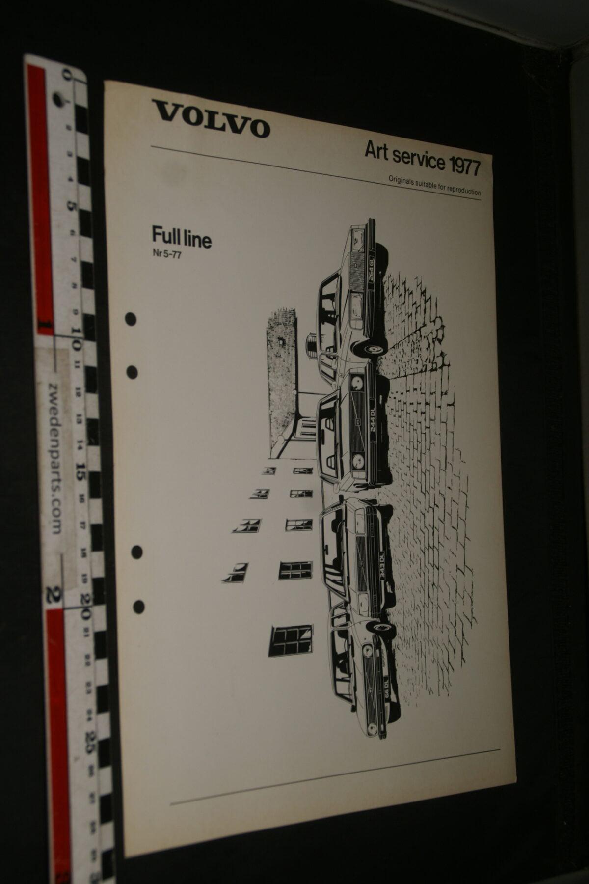 DSC03282 1977 originele plaat op zwaar papier Volvo Full line nr 5-77-91b704fa
