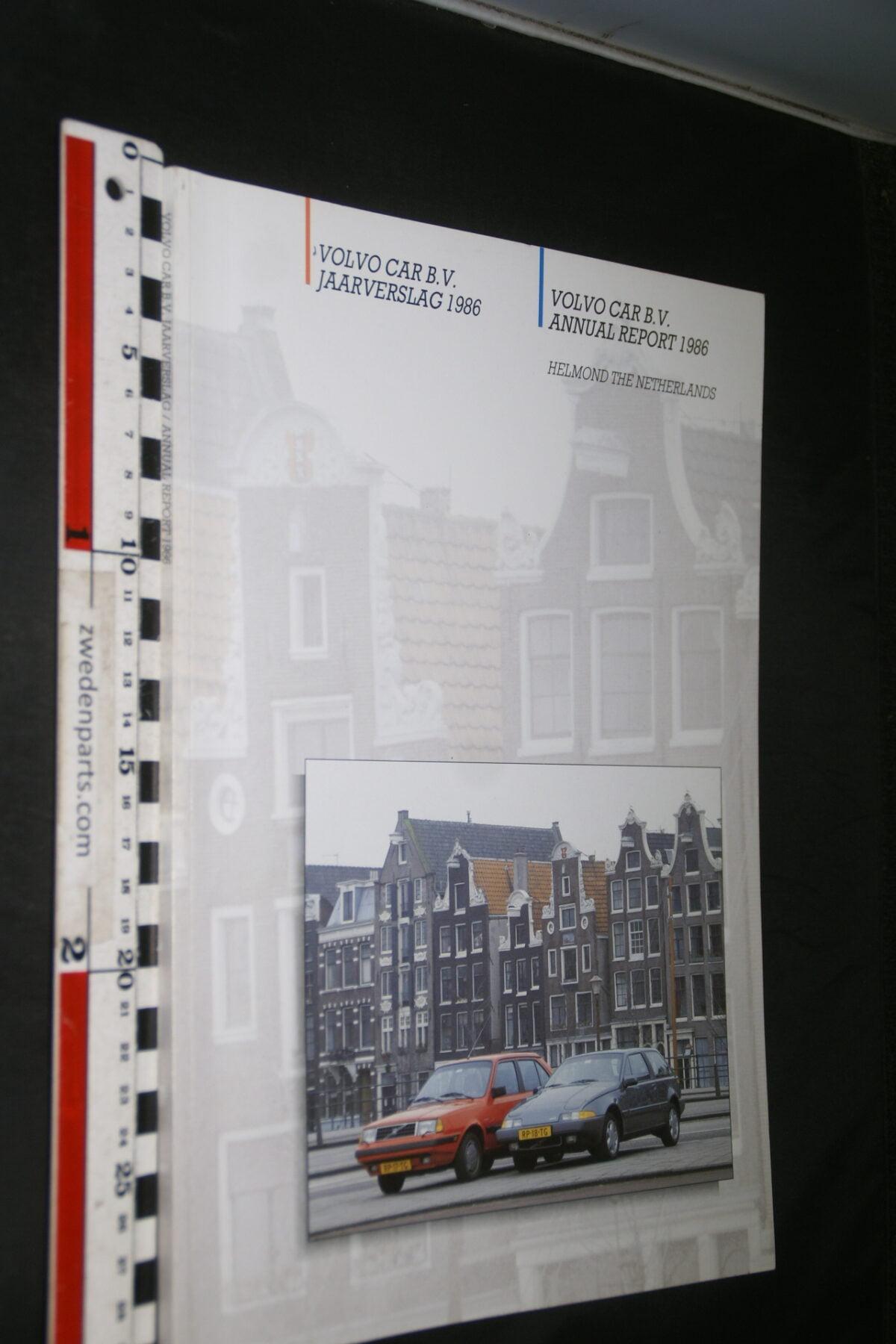 DSC03326 1987 origineel boek jaarverslag Volvo nr. VCBV-CPR 6500, Nederlands en English-f37c0d1b