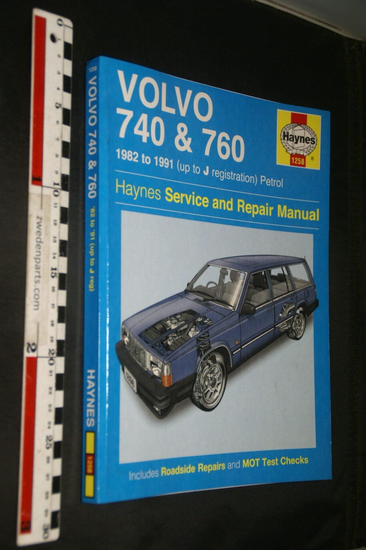 DSC03651 1991 origineel Haynes boek Service and repairmanual Volvo 740  760 nr ISBN 9780857337474, English-baffaddd