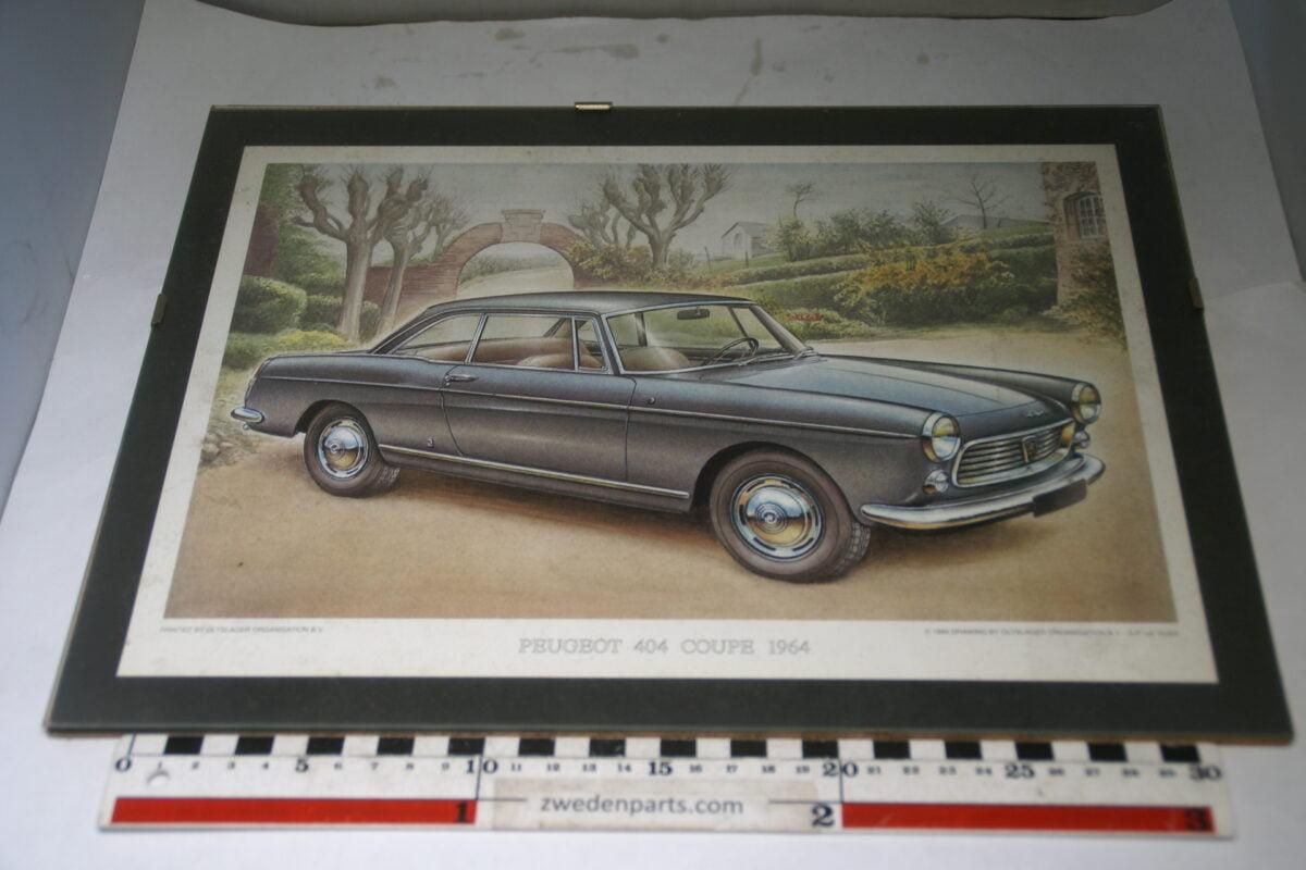 DSC03704 1964 originele prent op zwart karton Peugeot 404 Coupe Olyslager Organisation-d6c987ea