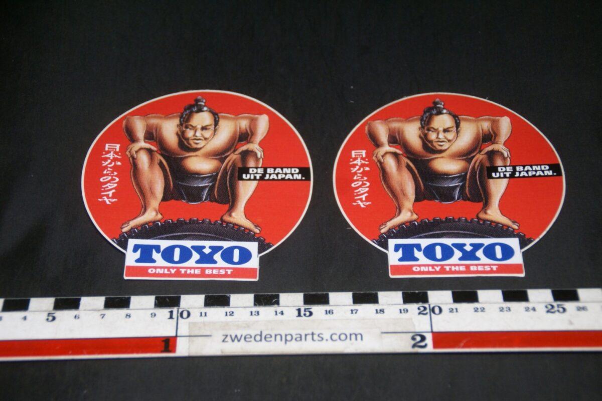 DSC03711 ca 1970 originele stickers TOYO banden, 2 stuks NOS-e716e3c9