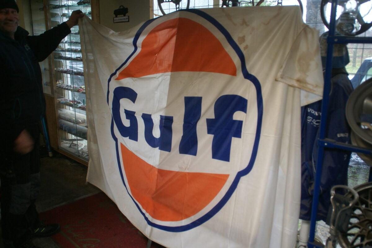 DSC03726 ca 1970 originele vlag GULF olie, ca. 120 x 180 cm-e7298a2b
