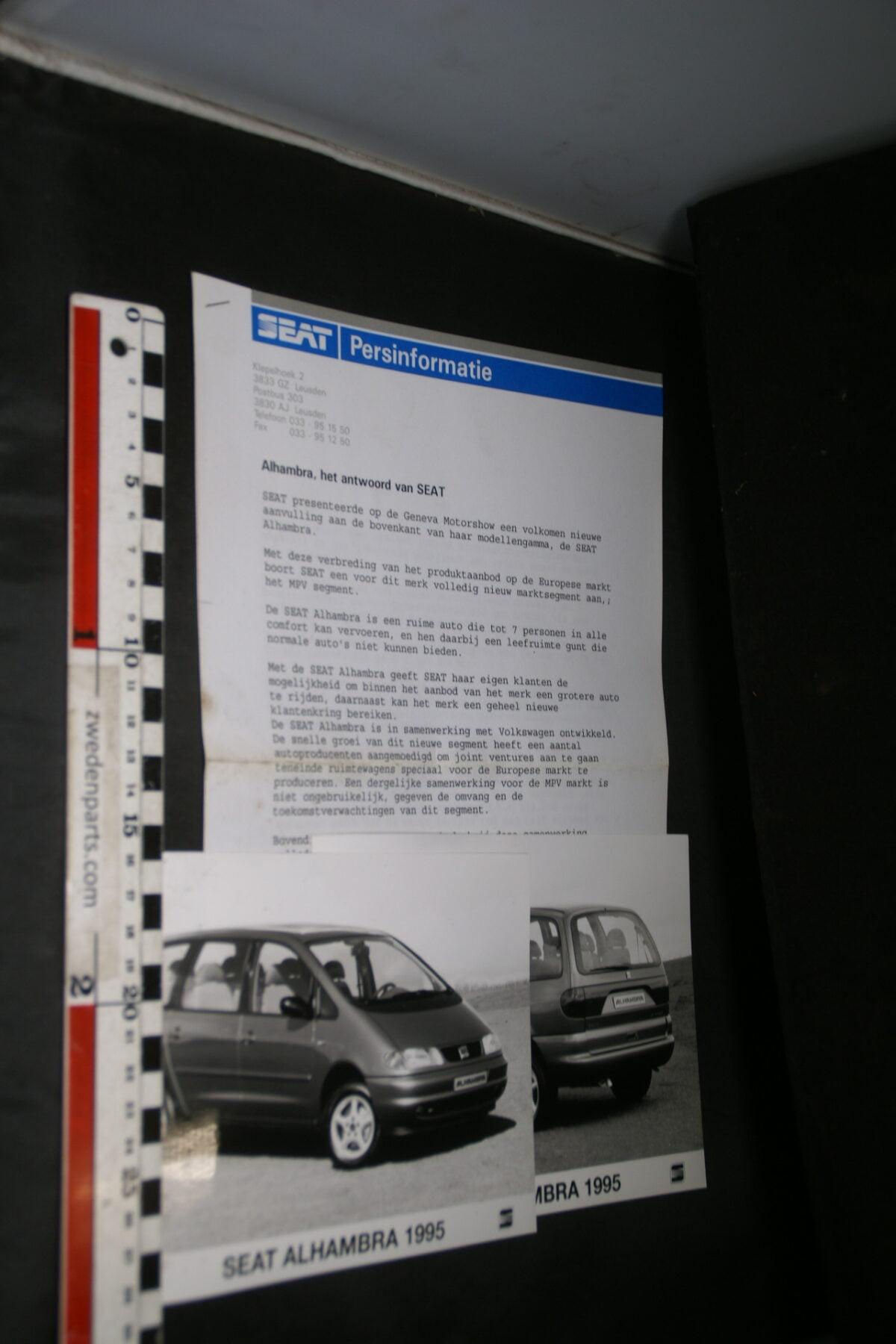 DSC03736  ca 1995 originele persbericht SEAT-4668f01f