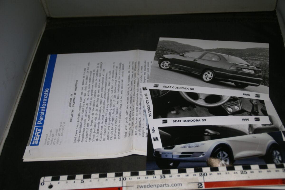 DSC03755 1996 origineel persbericht SEAT Cordoba SX-bdcf6127