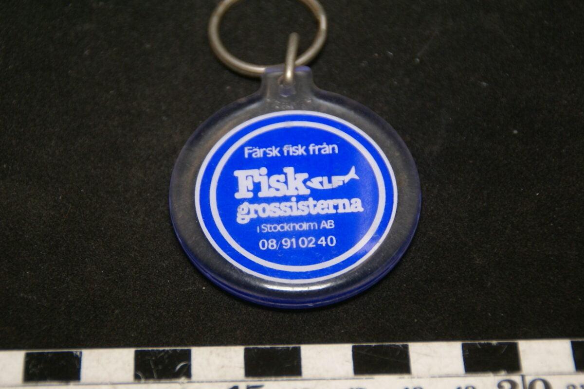 DSC02065 ca. 70er jaren originele sleutelhanger Zweedse vishandel-8b085699