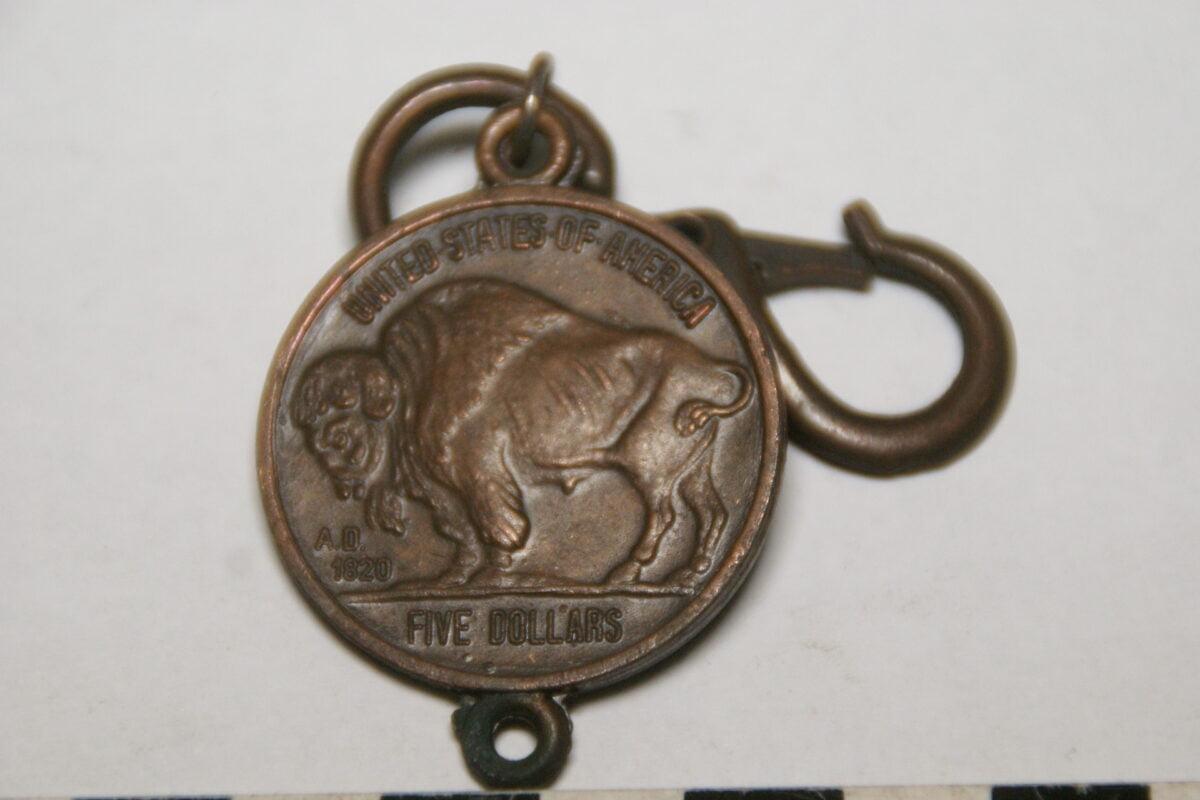 DSC02102 ca. 90er jaren originele sleutelhanger USA bison-8922599a