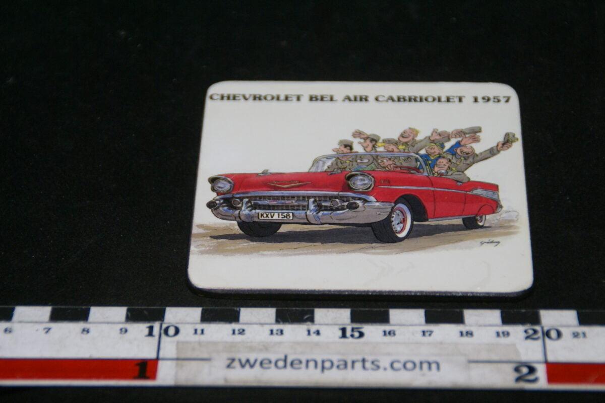 DSC02123 originele onderzetter 1957 Chevrolet Bel Air Cabriolet mint-ba437b69