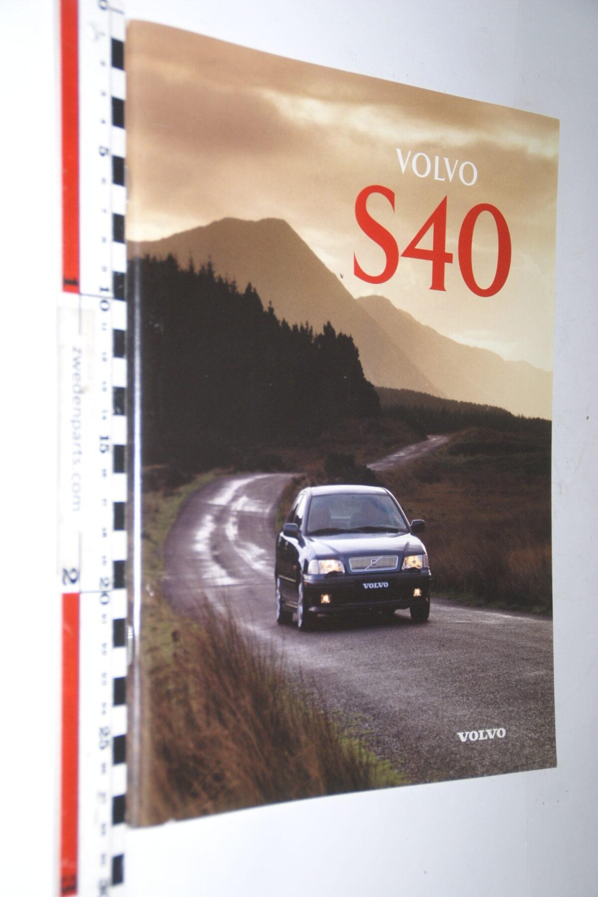 DSC05001 1996 originele brochure nr. MSPV 8055-96 Volvo S40-046fd568