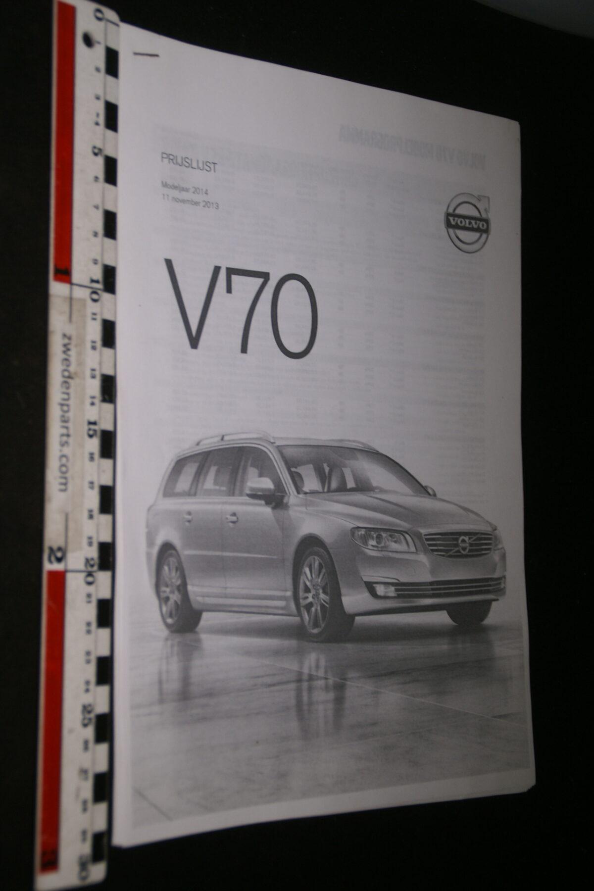 DSC05257 2013 originele brochure Volvo V70-4241468c