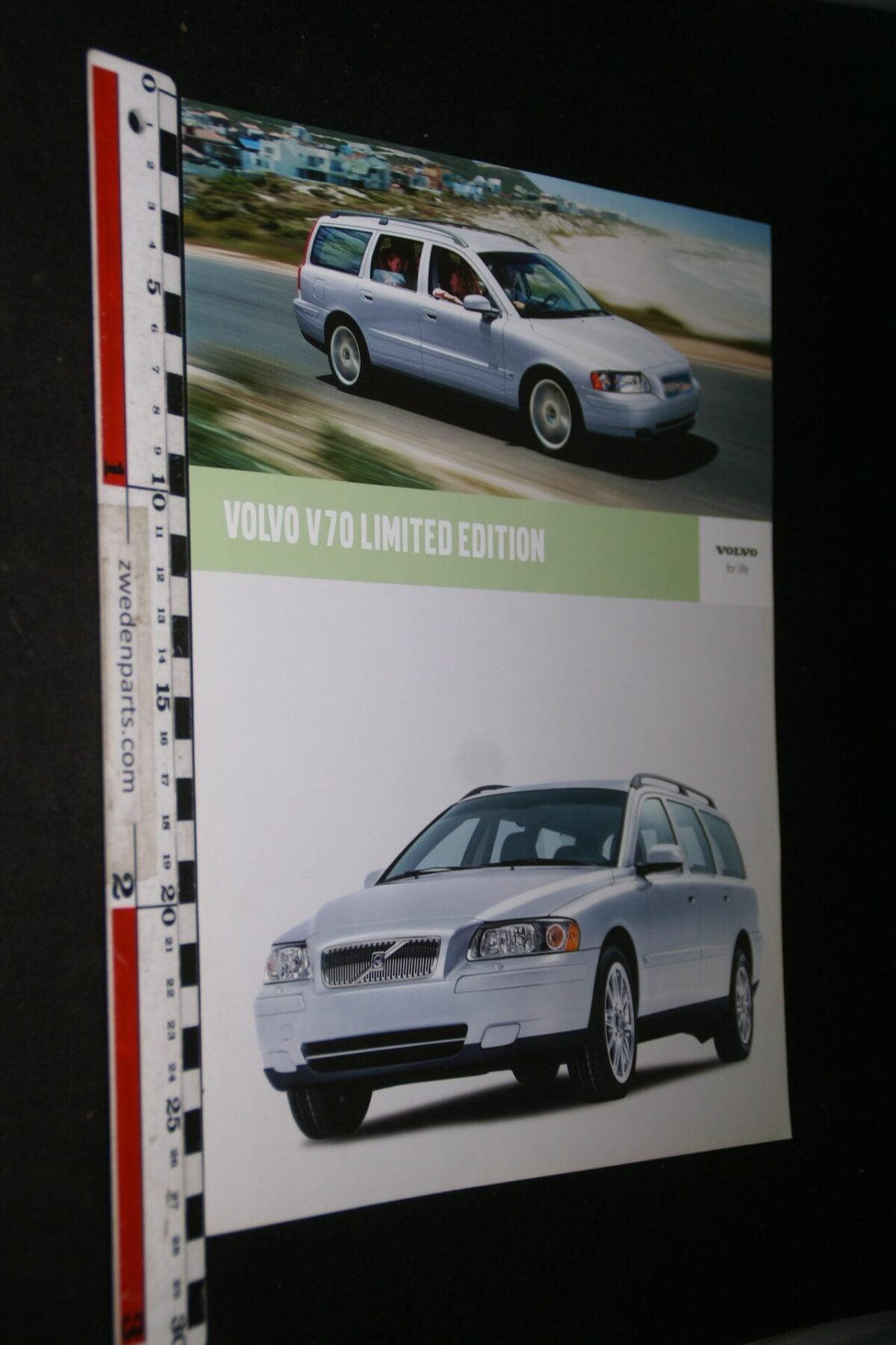 DSC05270 2005 originele brochure Volvo V70 Limited Edition nr 1706-2-120bf938