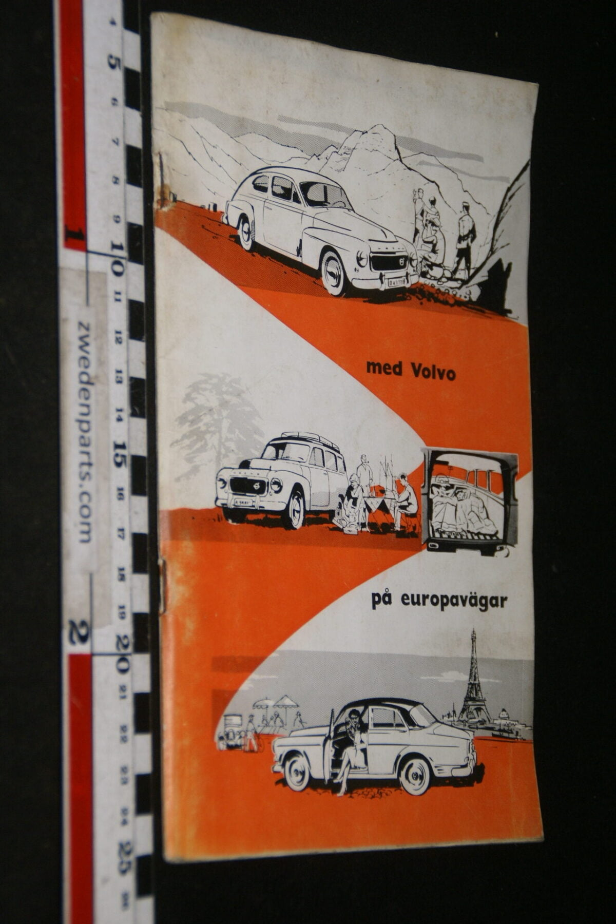 DSC06170 1959 boek Met Volvo op Europese wegen, nr 921227 Svenska-df2b6009