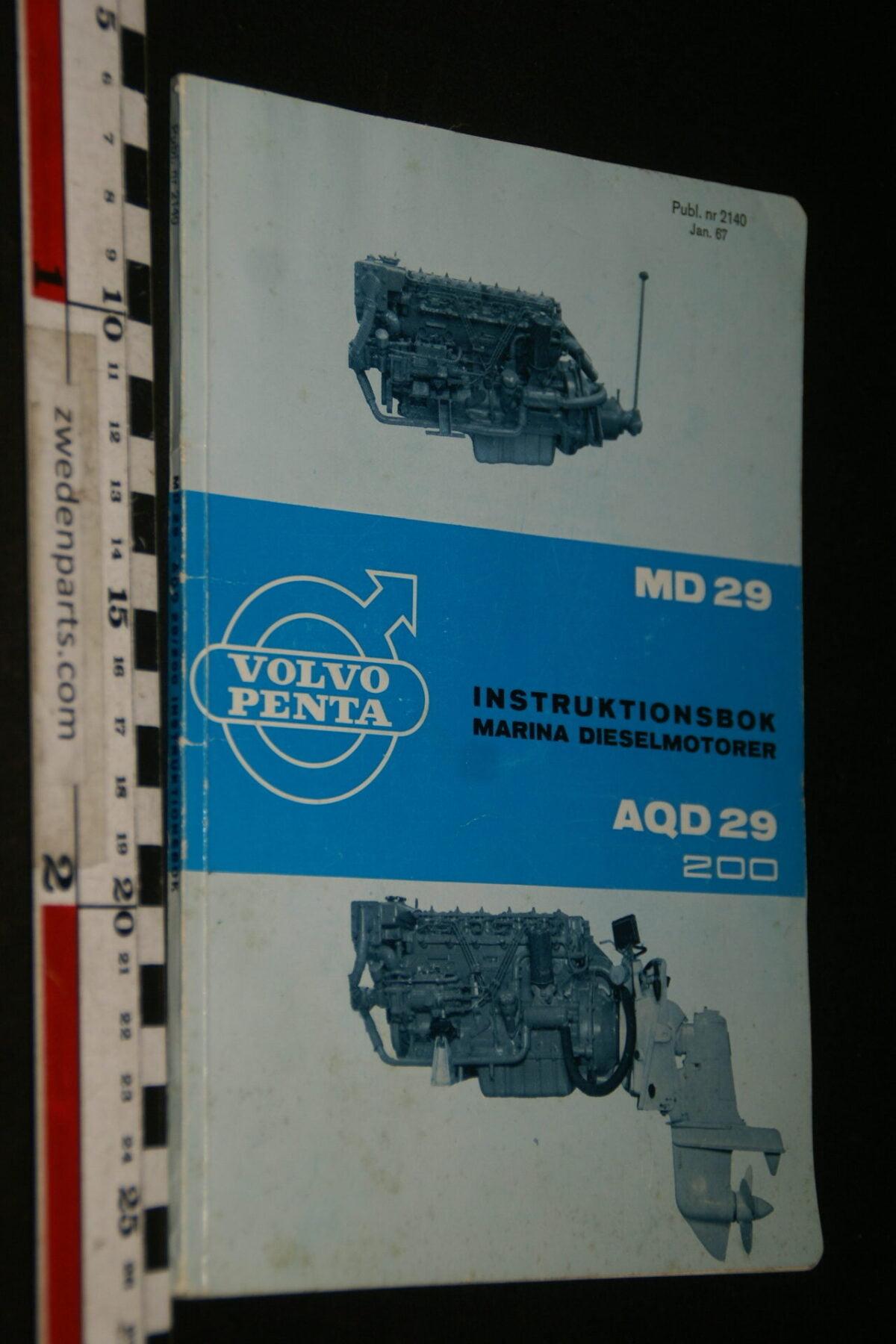 DSC06178 1967 origineel instructieboek Volvo Penta MD29 AQD29 200, nr 2140, Svenska-263aee60