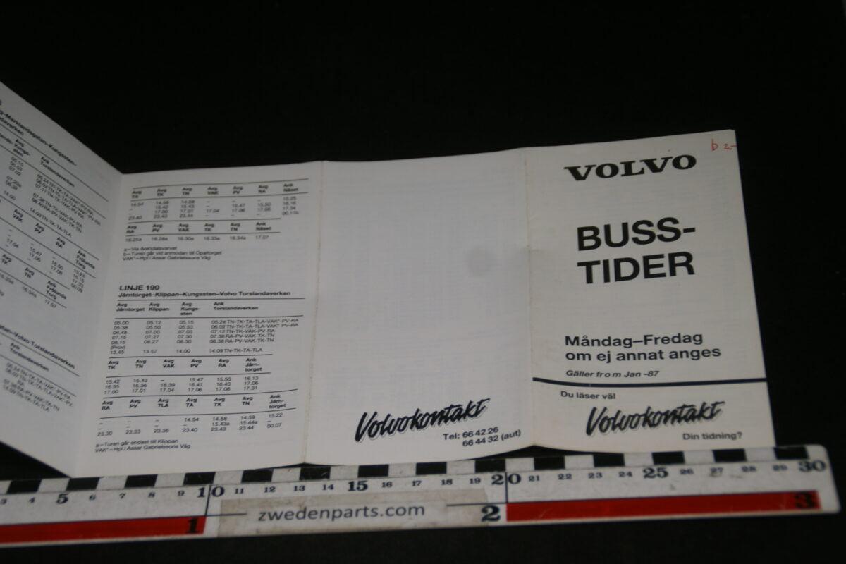 DSC06183 1987 boekje Volvo Busstider, Svenska-b2494417
