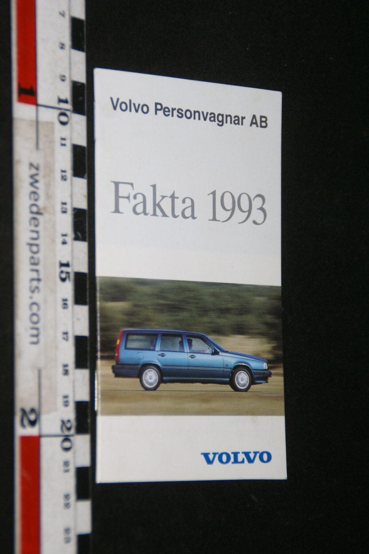 DSC06185 1993 origineel boekje Volvo Fakta, nr. PRPV 930501, Svenska-379f58dd