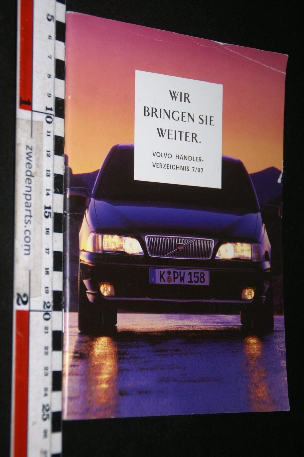 DSC06210 1997 boek Volvo Händler Verzeignis, nr. 9166 459, Deutsch-41d35c1d