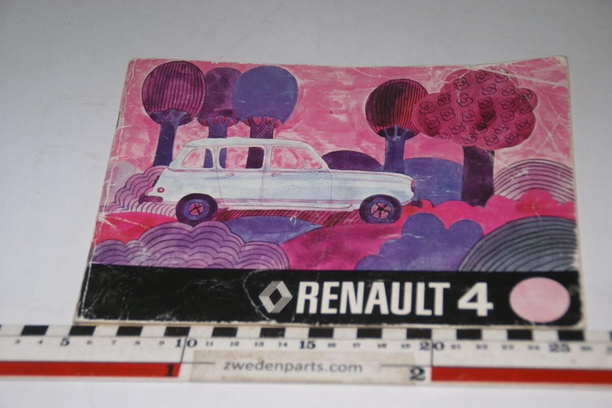 DSC06277 1976 origineel instructieboek Renault 4 nr NE 321750676-b6b9bb69