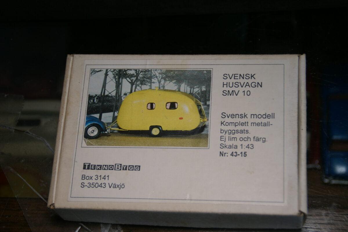 DSC06415 50er jaren metalen caravan SMV 10 1op43 TeknoBygg Zweden nr 43-15 MB-e721e1e9