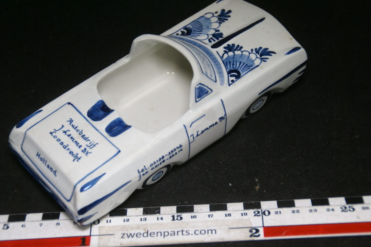 DSC06793 60er jaren ceramische auto asbak Opel Rekord Lamme Loosdrecht Royal Delfts Blue-95d3db19