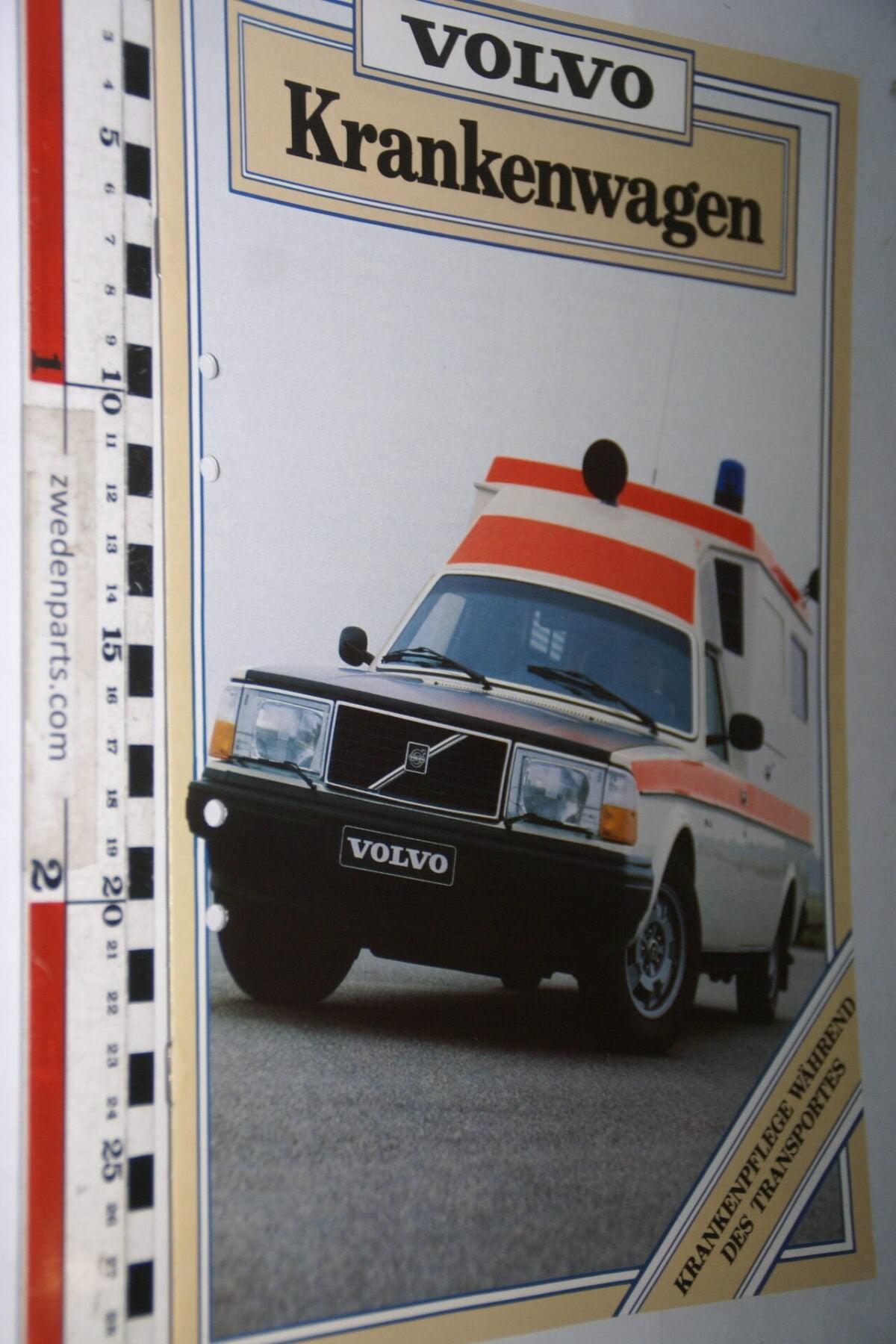DSC07632 1981 originele brochure Volvo 245 ziekenauto nr ASPPV 8867, Deutsch-93e5368b