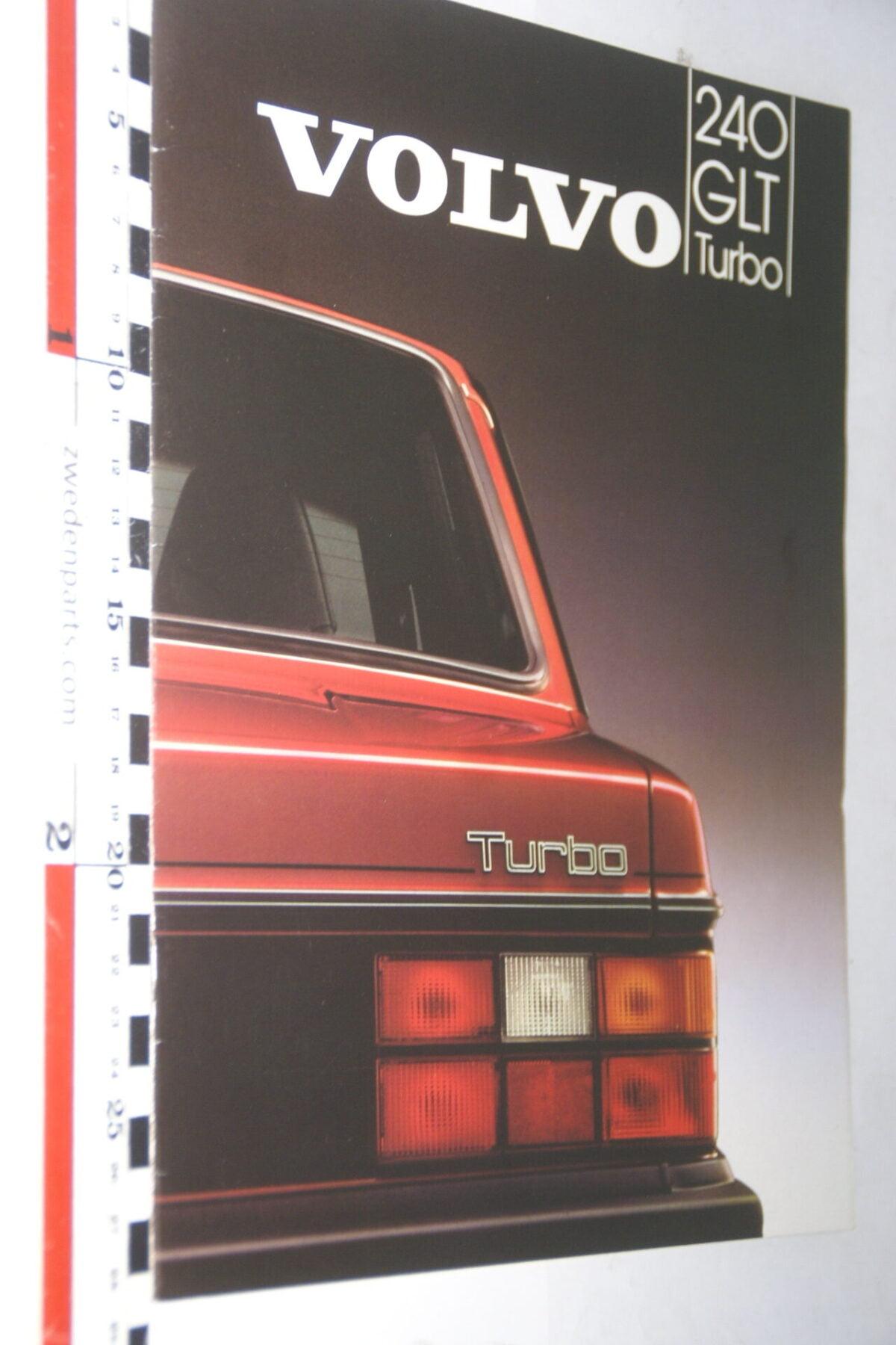 DSC07647 1983 originele brochure Volvo 244GLT Turbo nr MSPV 1215, Svenska-a8362d73