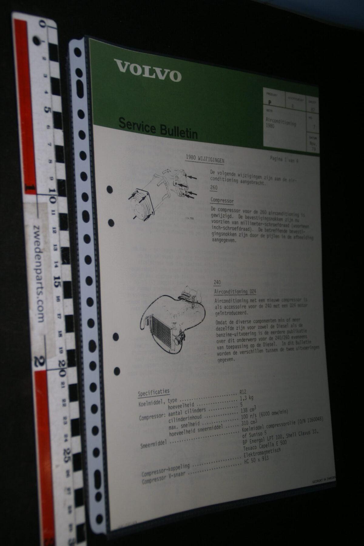 DSC07656 1979 origineel Volvo werkplaatsboek servicebulletin airconditioning-b7dddf21