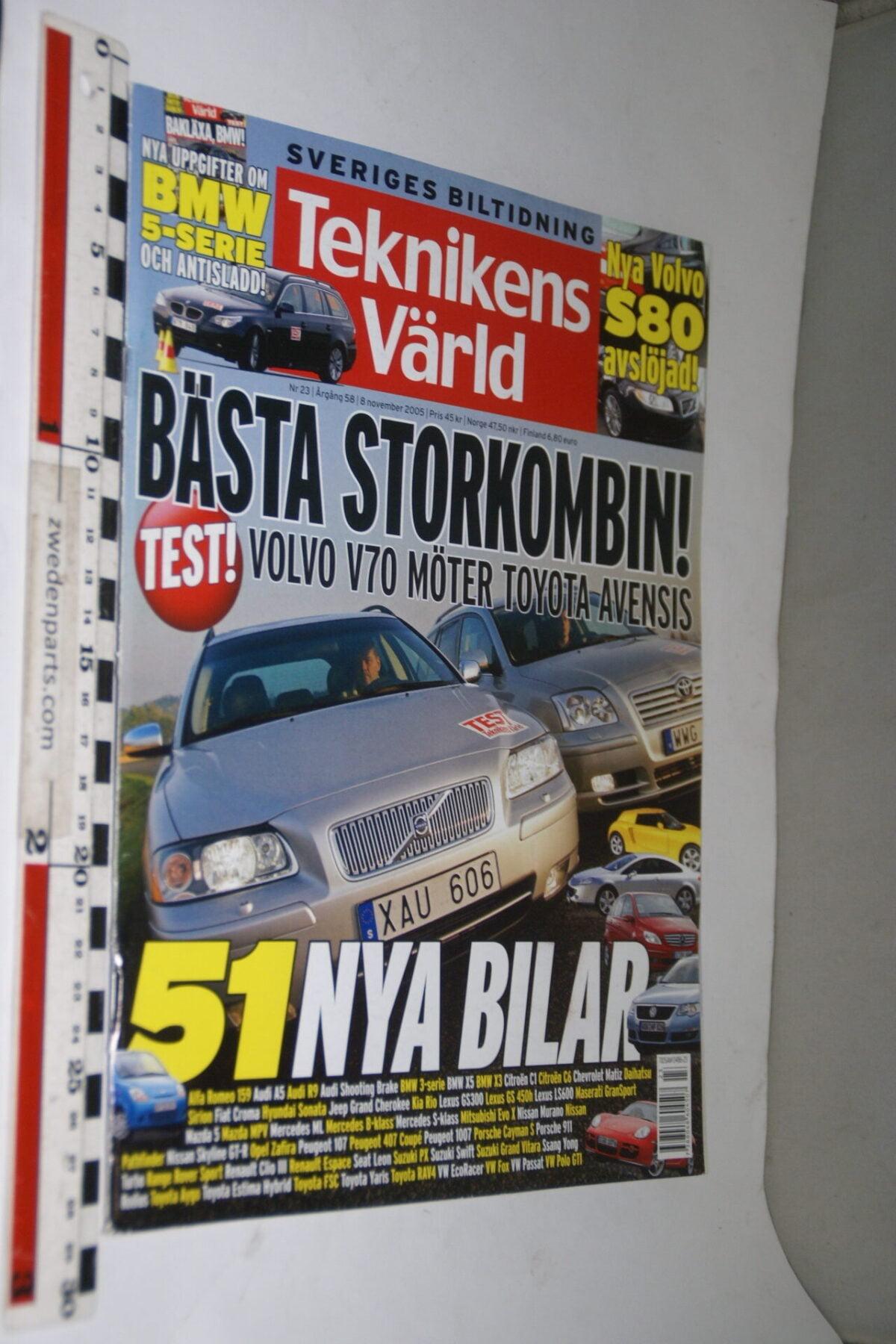 DSC08069 tijdschrift Teknikens Värld met nieuwe Volvo S80 8 november 2005, Svenska-2359e6ed