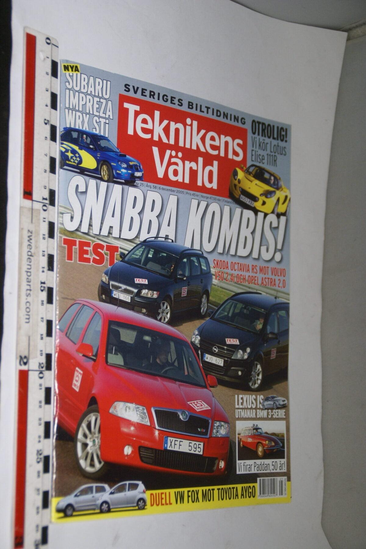 DSC08072 tijdschrift Teknikens Värld 6 december 2005, Svenska-30545779