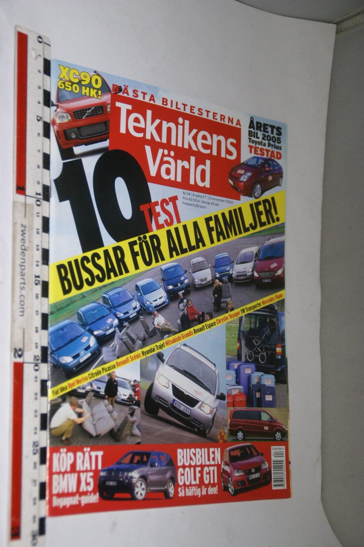 DSC08075 tijdschrift Teknikens Värld 23 november 2004 met Scout Scarab, Svenska-b7a86bf5