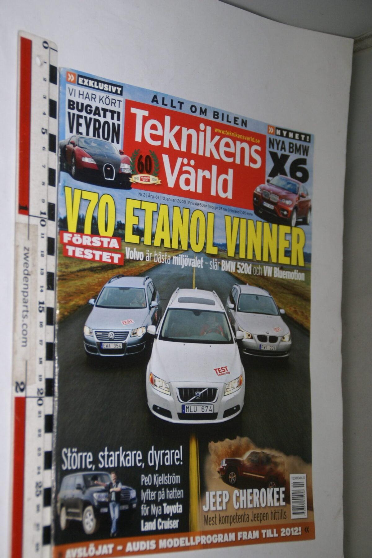 DSC08078 tijdschrift Teknikens Värld 10 januari 2008 met Volvo V70, Svenska-cf1382ce