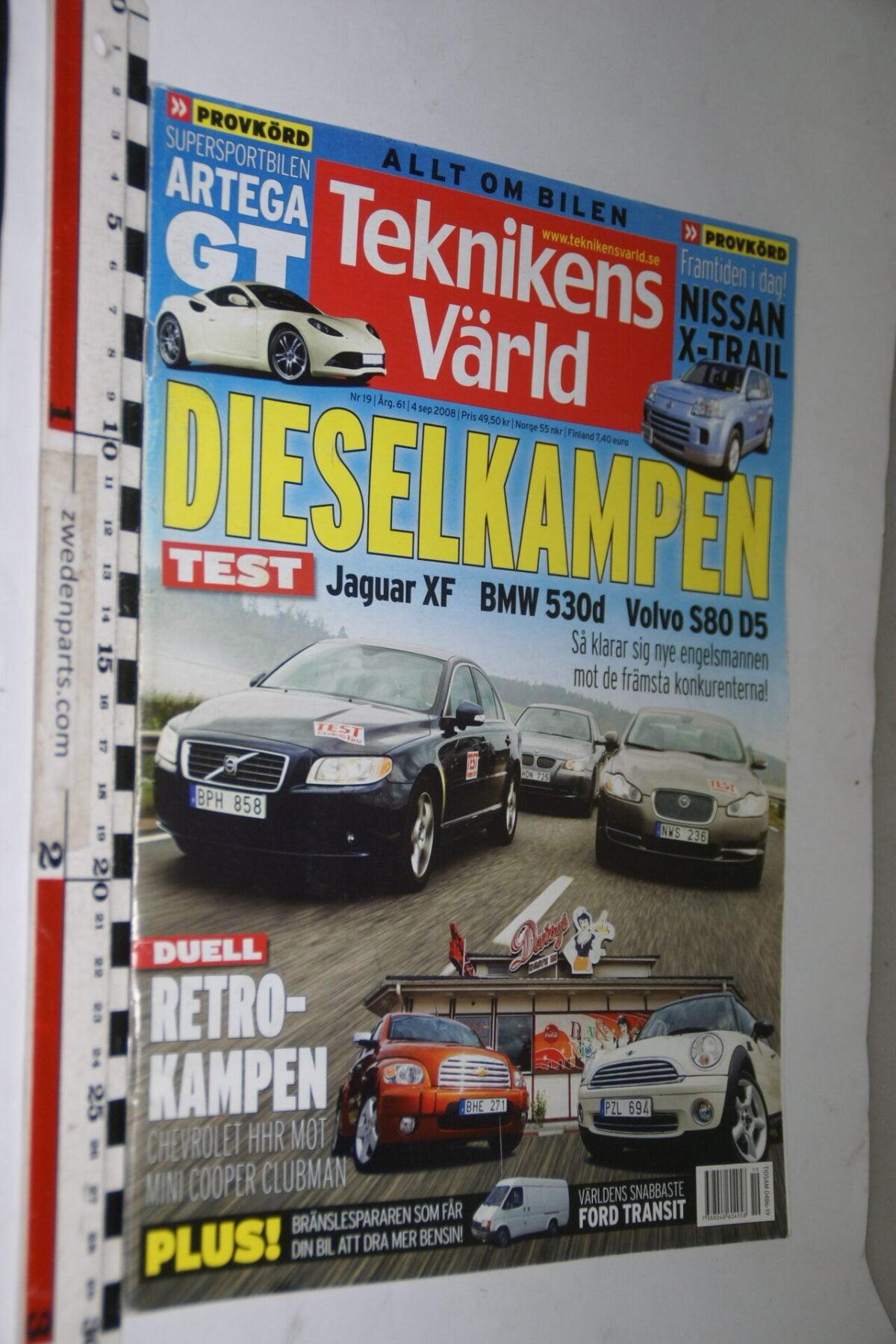 DSC08081 tijdschrift Teknikens Värld 4 september 2008 met Volvo S80, Svenska-fbd2745f