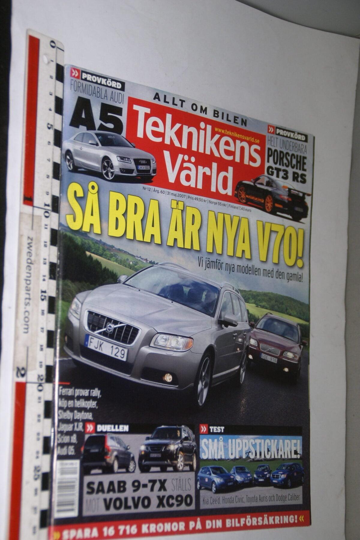 DSC08090 tijdschrift Teknikens Värld 31 mei 2007 met nieuwe Volvo V70, Svenska-3069363d