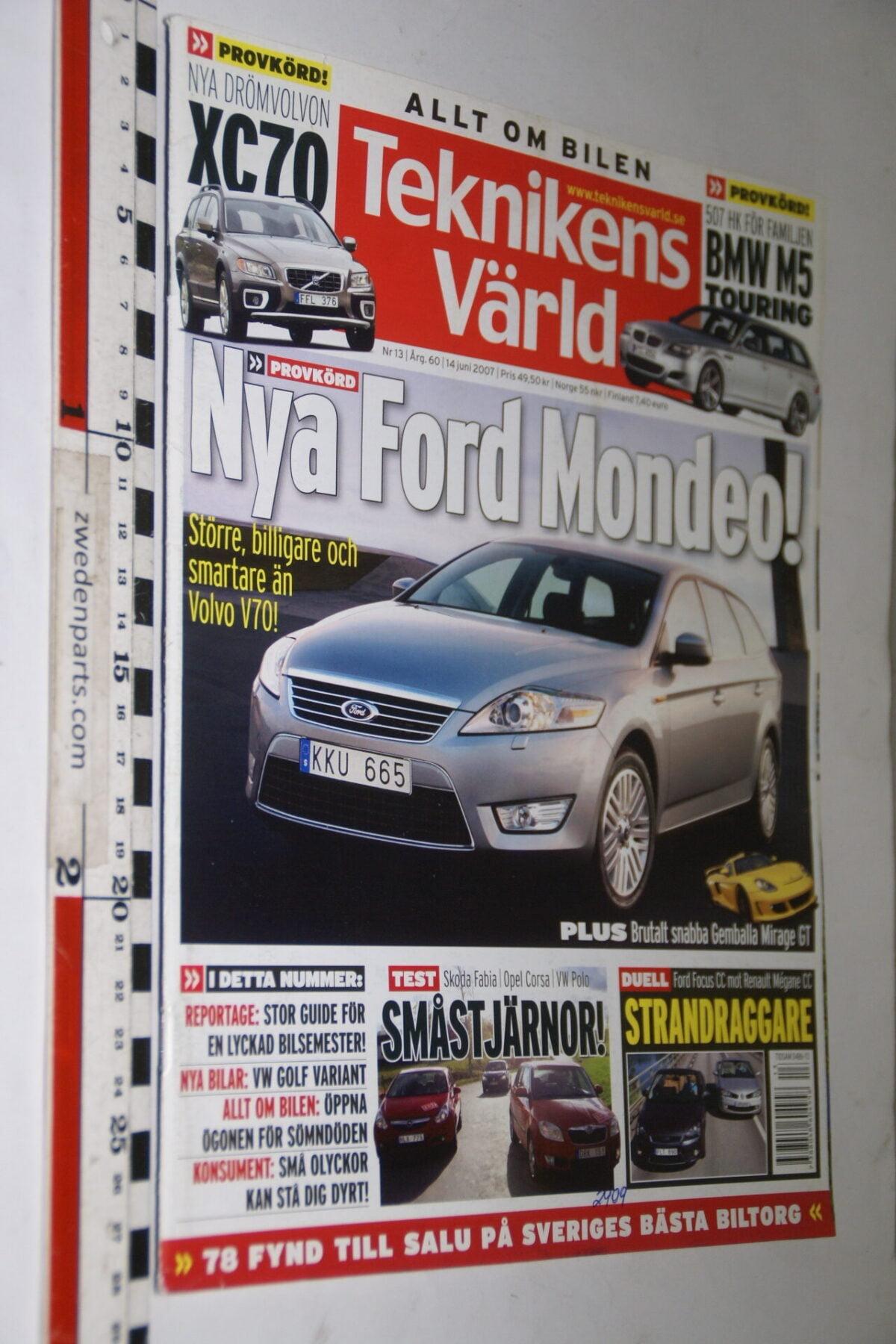 DSC08093 tijdschrift Teknikens Värld 14 juni 2007 met Volvo XC90, Svenska-1872c2e8