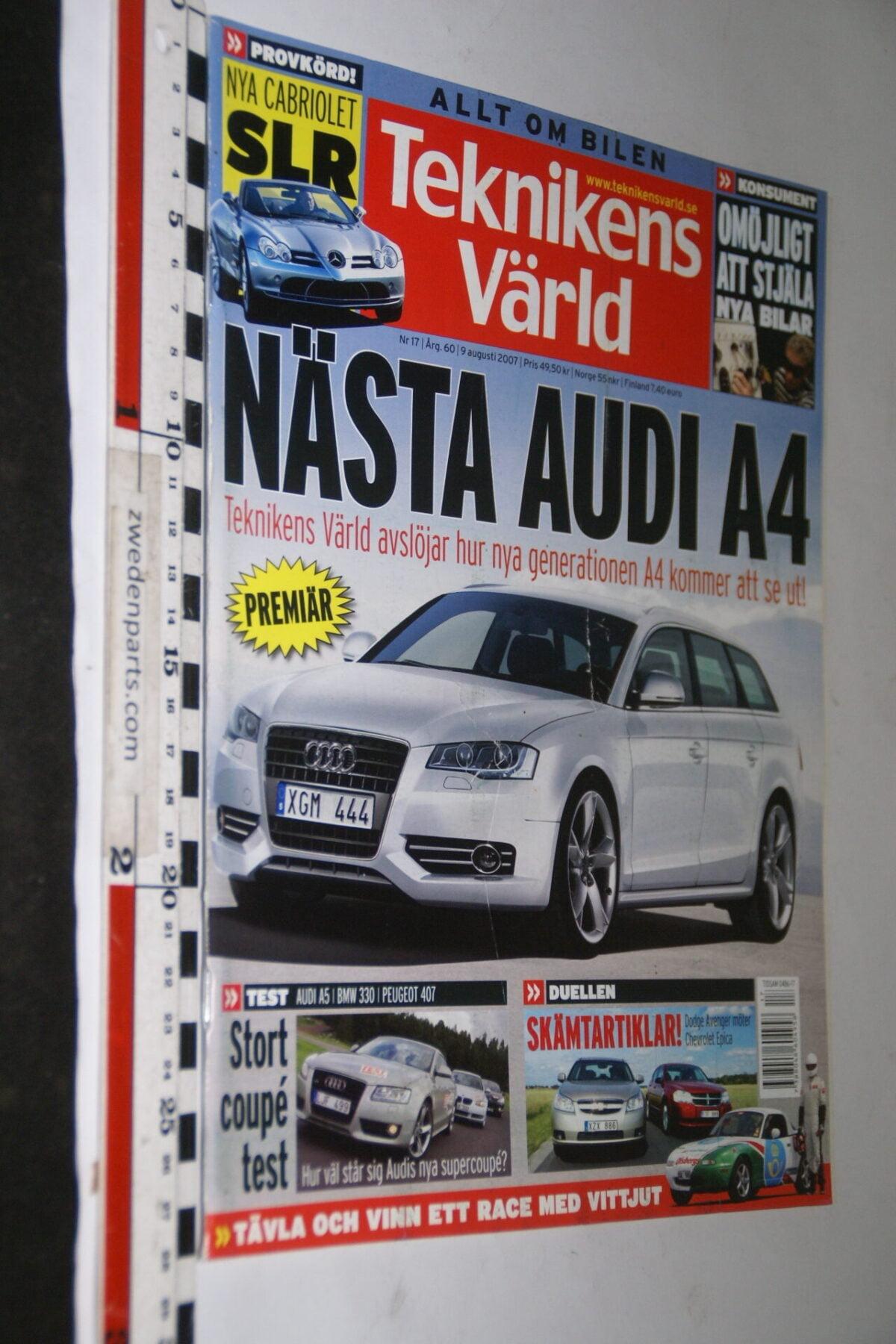 DSC08099 tijdschrift Teknikens Värld 9 augustus 2007 met zelfbouw racer, Svenska-21350f95