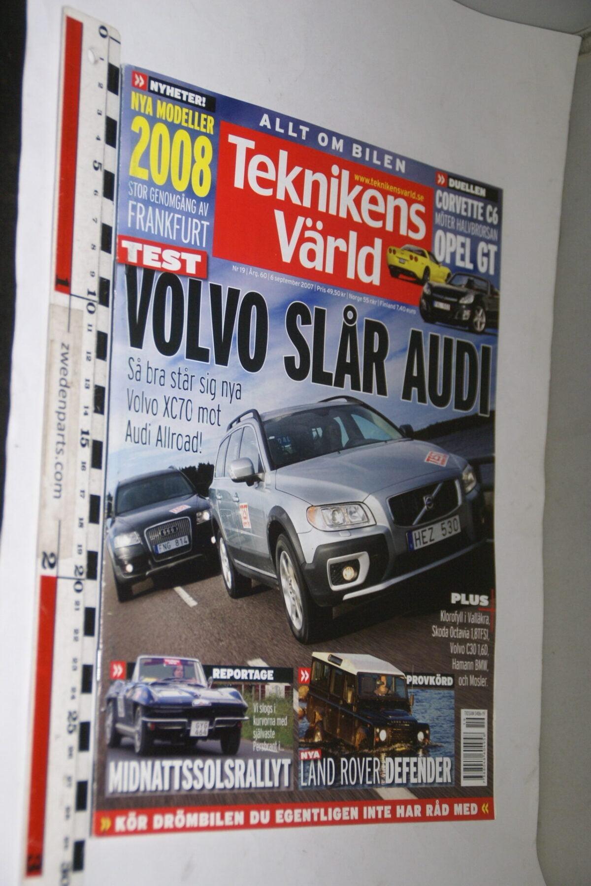 DSC08102 tijdschrift Teknikens Värld 6 september 2007 met Volvo XC70, Svenska-6470d0ec