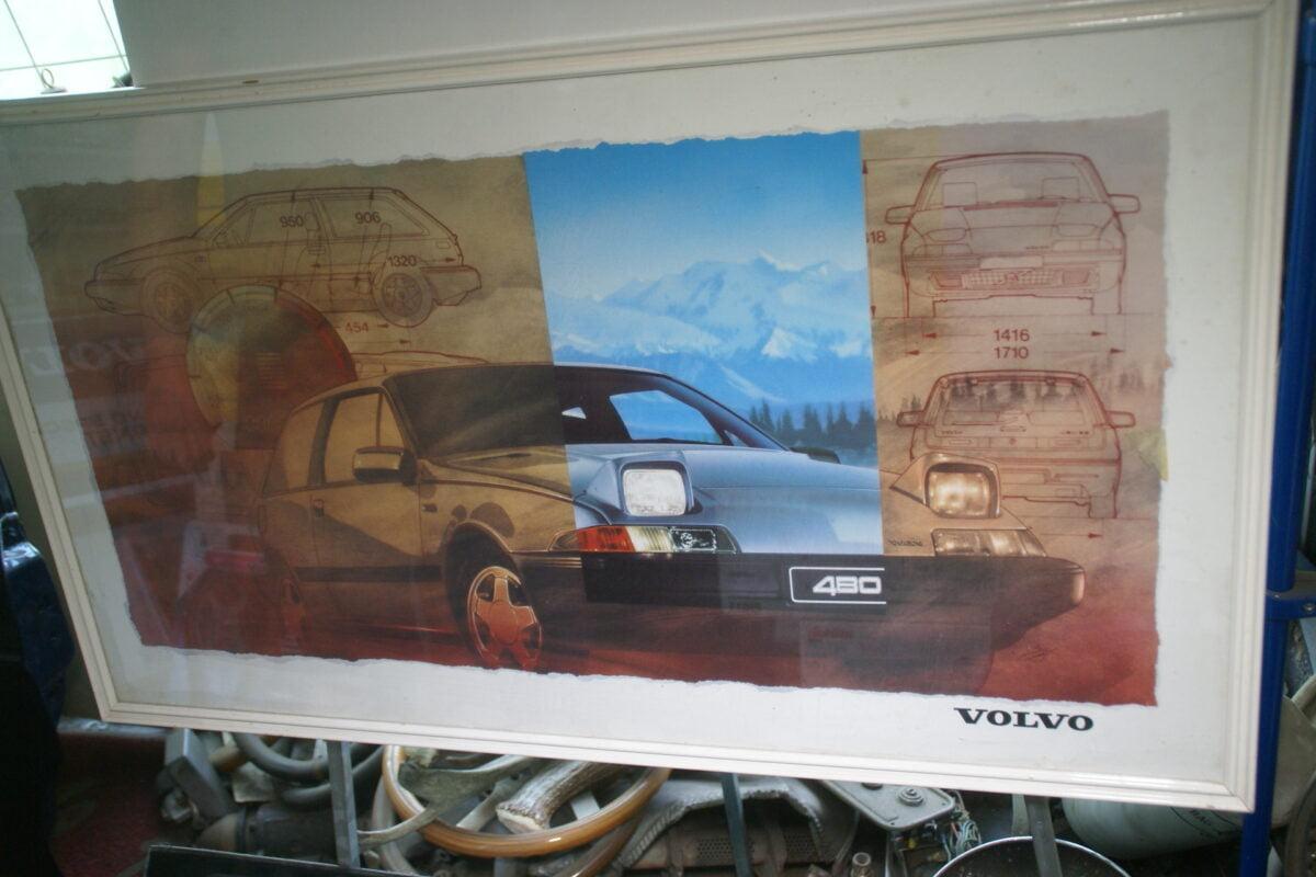 DSC08330 originele ingelijste poster Volvo 480-174f7828