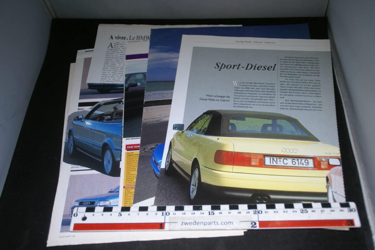 DSC08428 ca 1991 map met tijdschrift artikelen van Audi Cabrio-6ae6d189