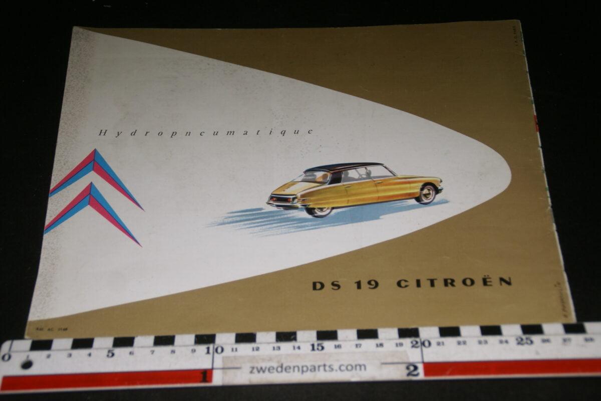 DSC08450 ca 1960 originele brochure Citroen DS 19 nr. AC5168, Francais-901e40e1